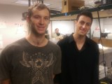 SDSU physics undergraduates Kevin O'Mara and James Heller